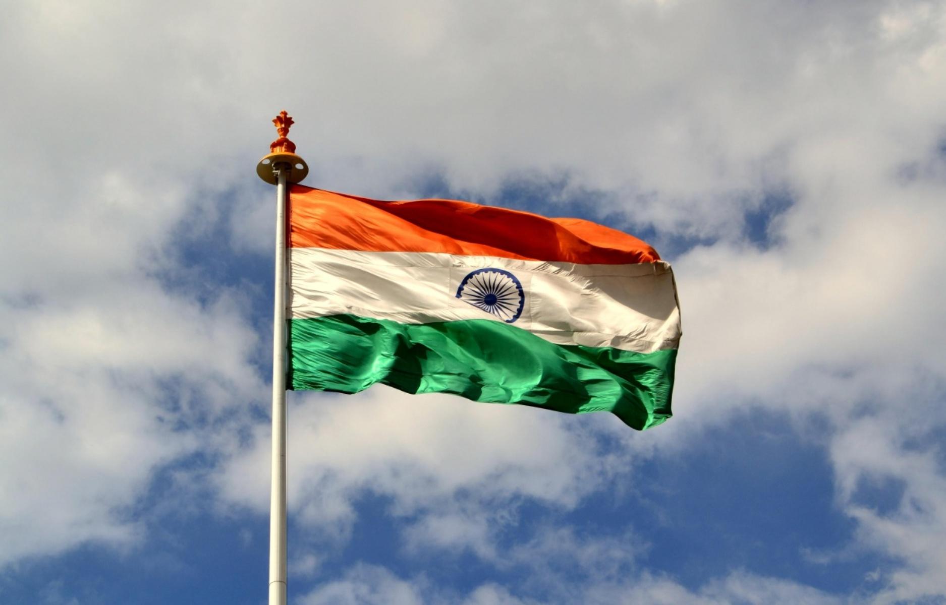 Indian Flag Flying Wallpaper